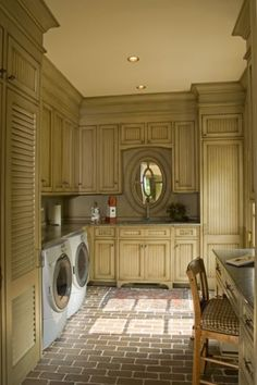 laundry room...love the mirror that looks like a window...may need to add tha to mine...
