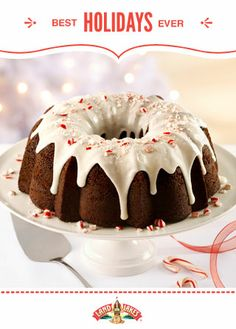 Whether you want to watch your guests' eyes light up or just watch the tree lights twinkle by yourself, Fudgy Peppermint Cake is indulgently perfect. #BestHolidaysEver