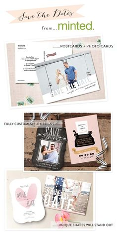 Minted Save the Dates. Cute designs