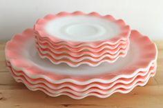Vintage Pink dishes  = LOVE