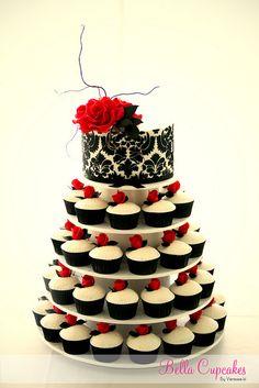 Dark Romance wedding cupcake tower cupcake stands, little cakes, weddings, wedding cupcakes, birthday cupcakes, wedding cakes, cupcake cakes, small cakes, cupcake towers