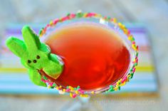 Marshmallow Peep Tini (Easter Martini)