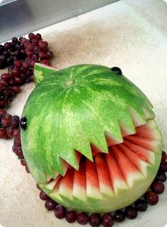 Mario party: chain chomp watermelon!