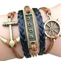 """""""Hope"""" Sailor Arm Party Bracelet"""
