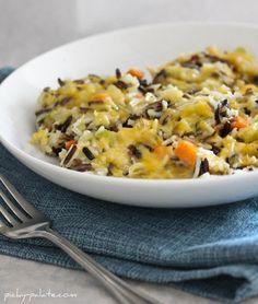 Cheesy Chicken and Wild Rice Casserole No cream soup in this recipe!