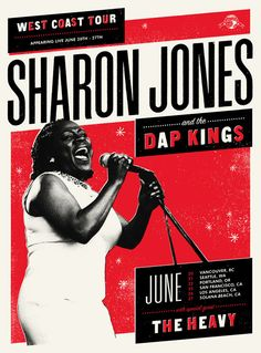 Love the poster, love the band - by Scott Campbell  Can't wait for the SJ and the dap kings to come back to Australia!