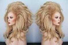 Drag Queen Wigs, drag, Big Hair, Bee Hive, cross dressing, transvestite, female impersonator.