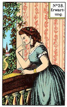 Vintage German fortune telling card.