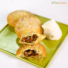 Carla Hall's Fried Pecan Pie with Bourbon Cream #TheChew