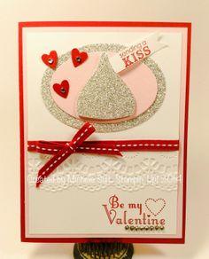 Sparkling Valentine Kiss Michelle Suit - Stampin' Up! 2014 disneysuitsme.blogspot.com valentin kiss, valentin card, card idea, card diy, card valentin, valentine cards, suit, sparkl kiss, blossom