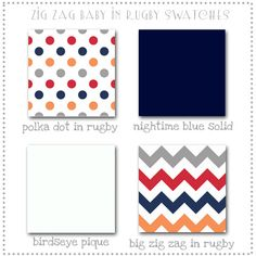 Zig Zag Baby in Rugby Boy's Crib Bedding Collection from New Arrivals Inc