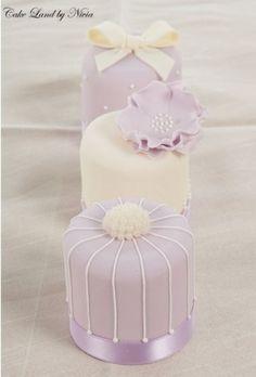Mini lavender cake wedding cakes www.finditforwedd...