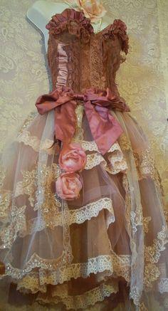 skirt, shabby chic, vintage lace, evening gowns, corset, fairi, dusty rose, romantic evening, lace dresses