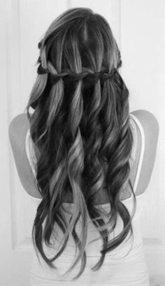 Cascade Braid #hair #wedding