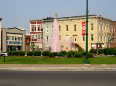 Troy, Ohio - You always knew it was Strawberry Festival time when our fountain was pink in downtown Troy