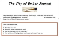 The City of Ember Journal Response Activity