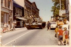 A vintage parade photograph submitted from Boontown, New Jersey commemorating the town's wartime efforts. Visit us to show a historical moment from your town>>