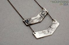 Cinder & Smoke Necklace by @The Mtns & The Sea on #Etsy. #ceramic #necklace #jewelry #fashion