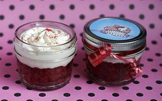 Mini Mason Jar Cupcakes -  Red Velvet