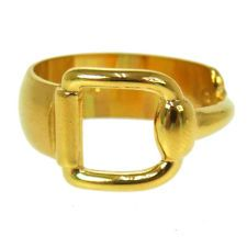 Authentic GUCCI Vintage Scarf Ring Gold Tone Accessories Made In Italy.