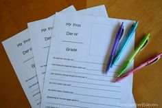 Come Together Kids: First Day of School Memory Page