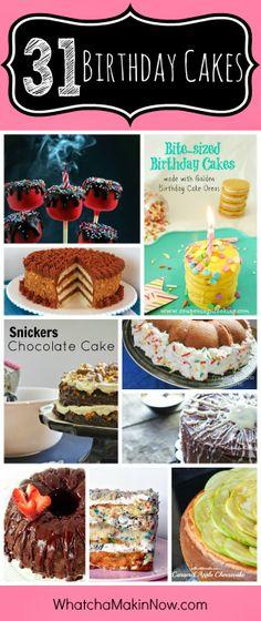 31 Birthday Cake Recipes perfect for any birthday party! #reciperoundup