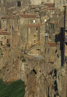 The old buildings of Pitigliano, Italy