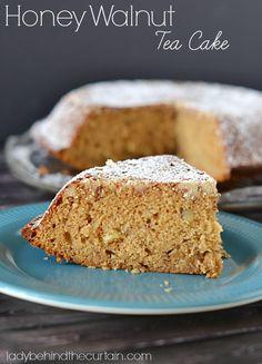 Honey Walnut Tea Cake - Lady Behind the Curtain