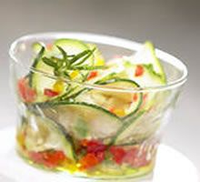 Alkaline Diet Recipe #109: Warm Red Pepper, Spinach and Courgette Salad