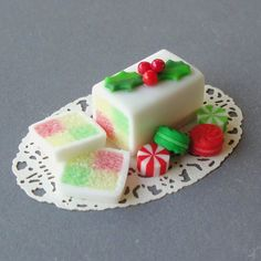 Christmas Cake And Candies - In Miniature