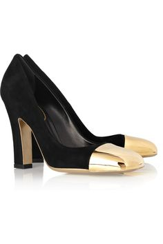 Yves Saint Laurent~Mae suede and metal pumps