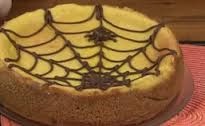 Halloween Pumpkin Cheesecake with Spider Web