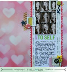 #papercraft #scrapbook #layout    All About Me: Note to Self by Lisa Dickinson