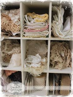 Welcome to Where Bloggers Create 2014: another lace cubby (same craft room)