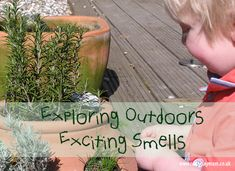 Exploring the sense of smell in the garden with a book linked in