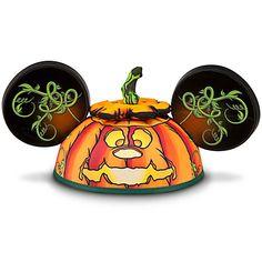 Jack O'Lantern Mickey Mouse Ear Hat #Halloween