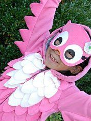 Girly Girl Owl Costume   AllFreeHolidayCrafts.com