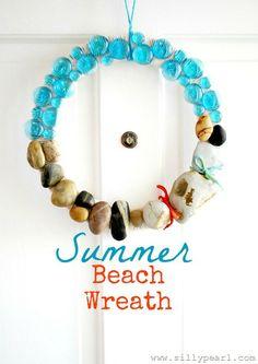 The Silly Pearl - Summer Beach Rock Wreath