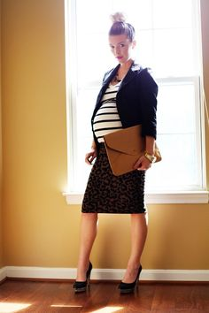 Maternity style for work!  Dressing the bump with inexpensive designer maternity clothes!  MotherhoodCloset.com #MaternityConsignment #pregnant #pregnancy #maternity #fashion #look