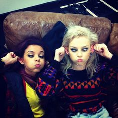 Funny faces on the X Factor tour :p - Mixers HQ galleries, funny pictures, jade, littlemix, friendship, funny faces, monkey, little mix, role models