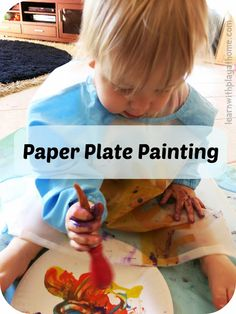 Learn with Play at home: Baby and Toddler Play: Paper Plate Painting