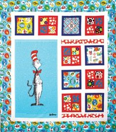 Suess panel quilt