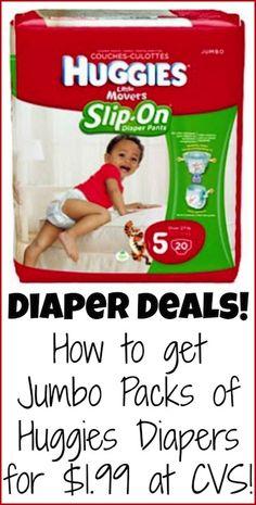 Diaper deals: how to get jumbo packs of Huggies for just $1.99 at CVS!