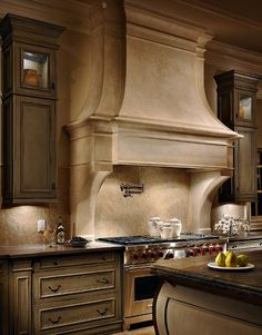 Glazed cabinetry.