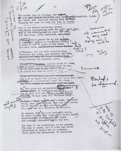 T. S. Eliot's manuscript of 'The Waste Land' with corrections by Ezra Pound.
