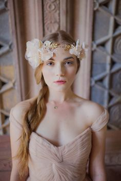 Foolish Ginger bridal accessories combined with Reem Acra and shot by Christina Lilly Photography