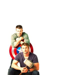 """Capt. America & Thor. Let's just say I am a huge fan of their, er, """"talents."""""""
