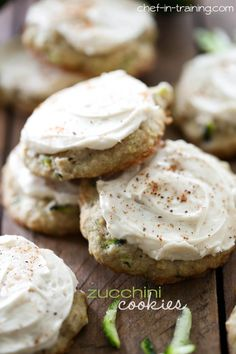 Zucchini Cookies from chef-in-training.com …These cookies are soft and cake-like and taste amazing! A great way to use up some of that zucchini!