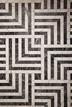 Beautiful marble floor by Kelly Wearstler Residential. #Coverings25