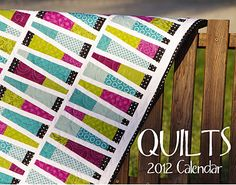 Love this quilt and she even made her own calendar!